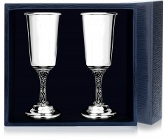 Набор серебряных рюмок «Виноград» с чернением из 2 предметов пр.925
