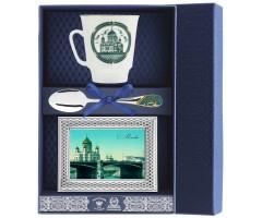 Набор чайный «Майская - Виды Москвы» с рамкой для фото