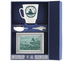 Набор чайный «Майская Санкт-Петербург-Медный всадник» с рамкой для фото
