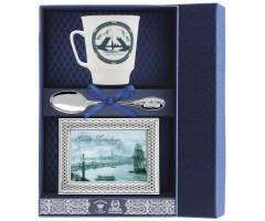 Набор чайный «Майская Санкт-Петербург-Троицкий мост» с рамкой для фото