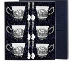 Набор чайный «Королевская охота» с чернением (12 предметов)