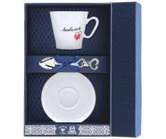 Набор кофейный «Черный кофе-Сердечки Любимой»