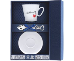 Набор кофейный «Черный кофе-Сердечки Любимому»