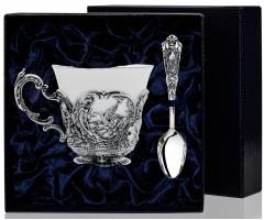 Чашка чайная «Королевская охота» с чернением