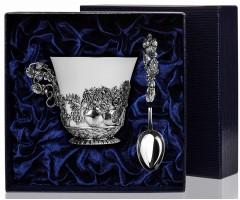 Набор серебряная чайная чашка «Натюрморт»