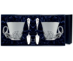 Набор серебряная чайная пара «Лебедь»