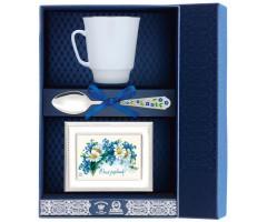 Набор чайный «Майская-Золотой кантик» с рамкой для фото