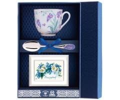 Набор чайный «Ландыш-Незабудки» с рамкой для фото