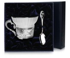 Набор чайная серебряная чашка «Архар»