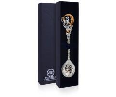 Серебряная ложка «Зодиак-Телец» с позолотой
