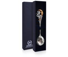 Серебряная ложка «Зодиак-Лев» с позолотой