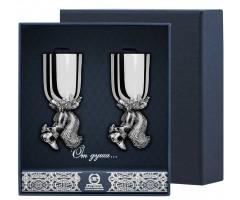 Набор серебряных рюмок «Белка» из 2 предметов