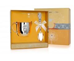 Набор детского серебра с кружкой «Девочка»