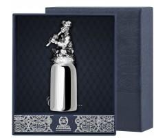 Серебряная рюмка «Заклинатель змей» с чернением
