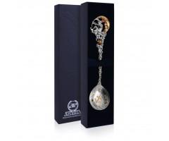 Серебряная ложка «Зодиак-Стрелец» с позолотой