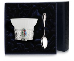 Чашка чайная «Зимородок» с эмалью