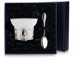 Чашка чайная «Дятел» с эмалью