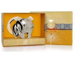Серебряная погремушка «Слон» на кольце
