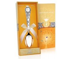 Детская серебряная ложка «Часы»