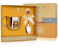 Набор детского серебра с кружкой «Мишка» КД