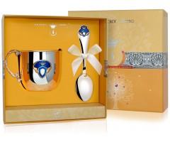 Набор детского серебра с кружкой  «Принц»  КД