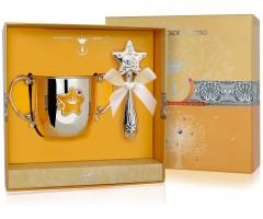 Набор детского серебра с поильником  «Звезда» КД и погремушкой