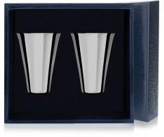 Набор серебряных стопок «Гладкая» из 2 предметов