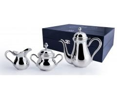 Серебряный кофейный сервиз «Английский» на 2 персоны из 3 предметов