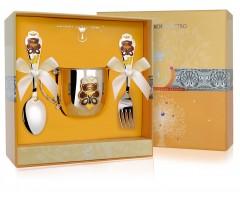 Набор детского серебра «Мишка» КД с вилкой