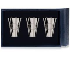 Набор серебряных стопок «Подарочная» из 3 предметов
