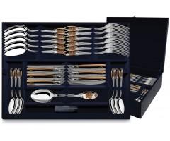Серебряный столовый  набор «Единство» с позолотой  24 предмета