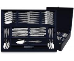 Серебряный десертный набор «Морозко»  48 предметов