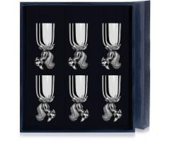 Набор серебряных рюмок «Белка» из 6 предметов