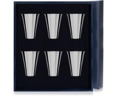 Набор серебряных стопок «Гладкая» из 6 предметов