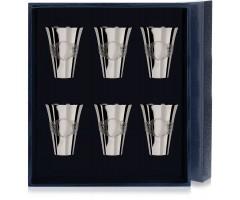 Набор серебряных стопок «Подарочная» из 6 предметов