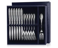 Серебряный набор для рыбы «Император»  12 предметов (вилки и ножи)