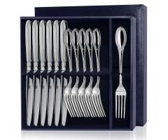 Серебряный столовый набор «Император»  12 предметов (вилки и ножи)