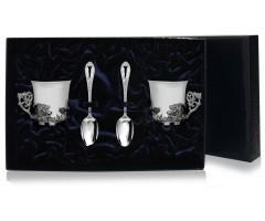 Набор серебряная кофейная пара «Кабан»