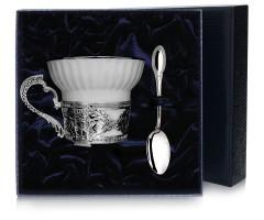 Набор   серебряная чайная чашка «Константин Великий»