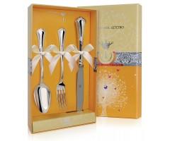 Набор детских серебряных столовых приборов «Фаворит» с ножом