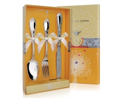 Набор детских серебряных столовых приборов «Престиж» с ножом