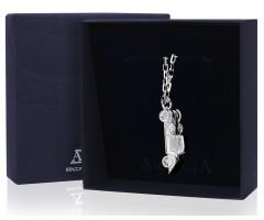 Серебряный брелок для ключей  «Мерседес-Бенц»