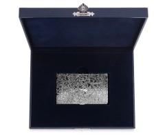 Серебряная визитница с рисунком