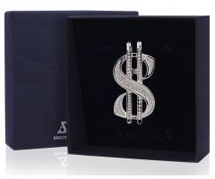 Серебряный зажим для купюр  «Доллар»