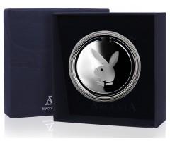 Серебряная закладка для книг «Плейбой»