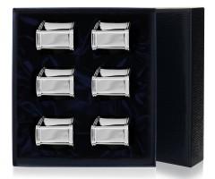 Набор из 6 серебряных колец для салфеток «Георгиан»