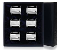 Набор из 6 серебряных  колец для салфеток «Имперо»