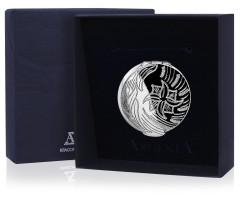 Серебряная таблетница-шкатулка «С рисунком»
