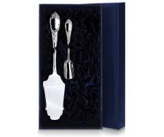 Серебряный чайный набор  «Престиж» из 2-х предметов